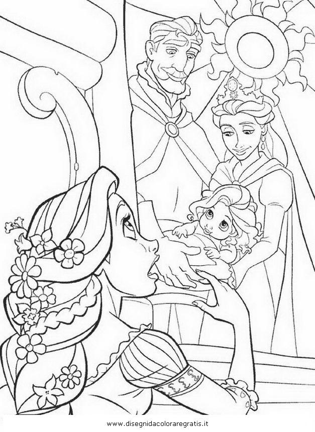 Disegno Rapunzelintrecciotorre52 Personaggio Cartone Animato Da