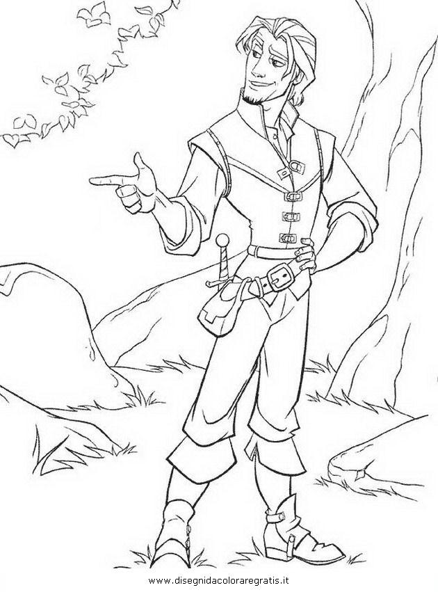 Disegno Rapunzelintrecciotorre60 Personaggio Cartone Animato Da