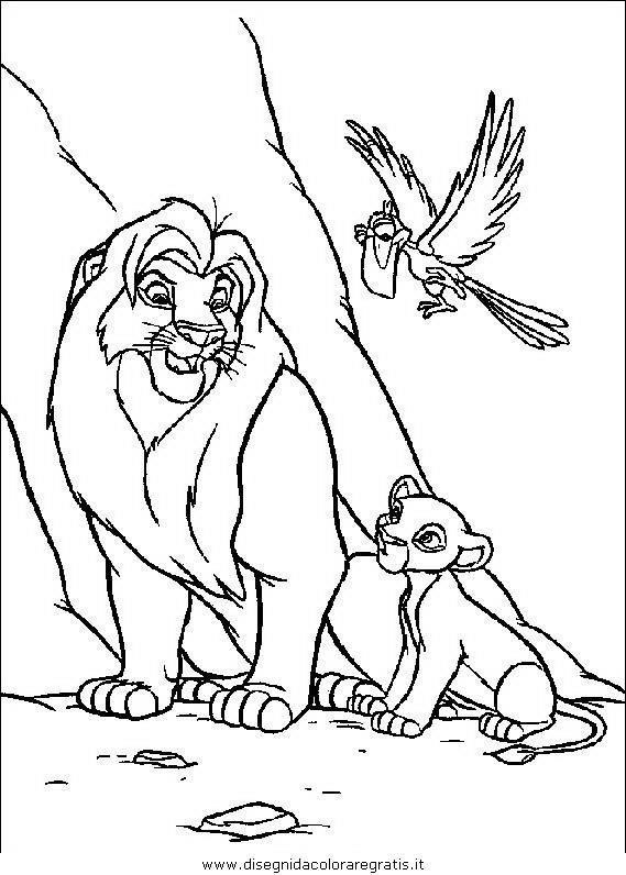 Disegno re leone 119 personaggio