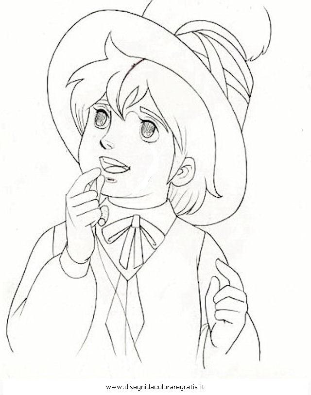 Disegno remi personaggio cartone animato da colorare