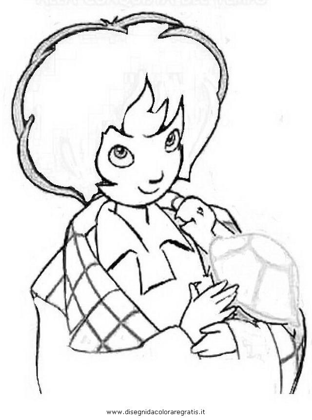 Disegno momo personaggio cartone animato da colorare