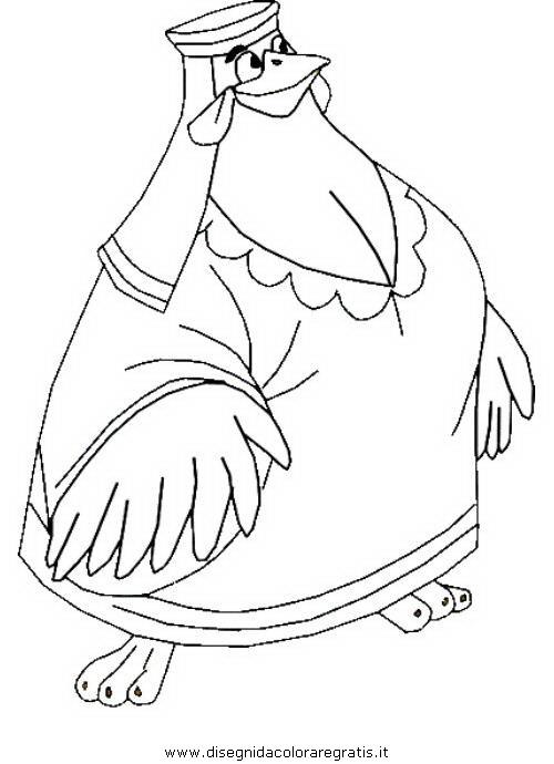 Disegno robin hood personaggio cartone animato da colorare