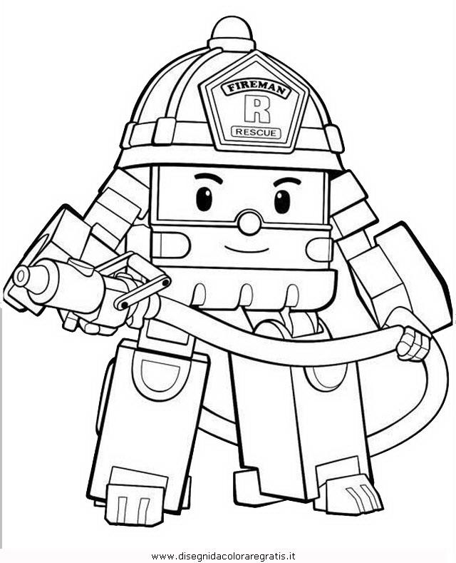 Disegno robocar poli personaggio cartone animato da