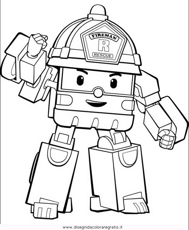 Disegno robocar poli 11 personaggio cartone animato da for Robocar poli da colorare