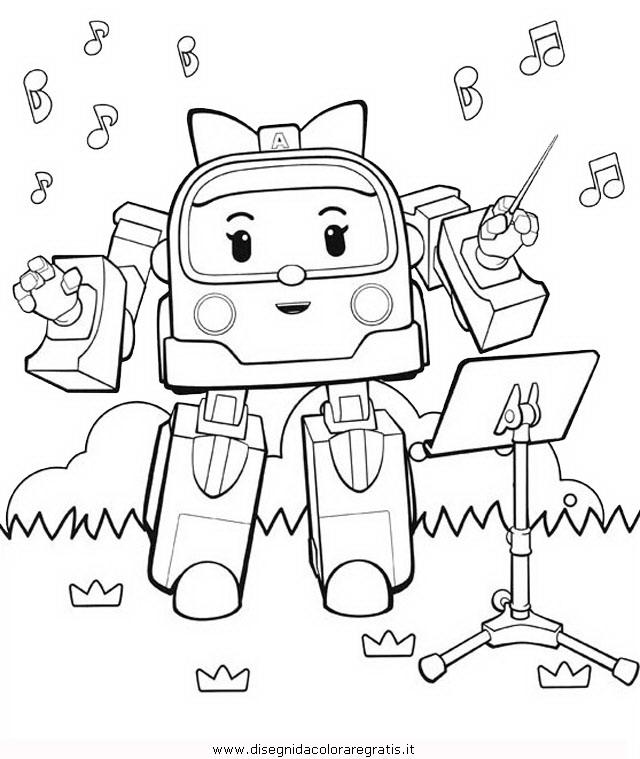 Disegno Robocar Poli 14 Personaggio Cartone Animato Da Colorare