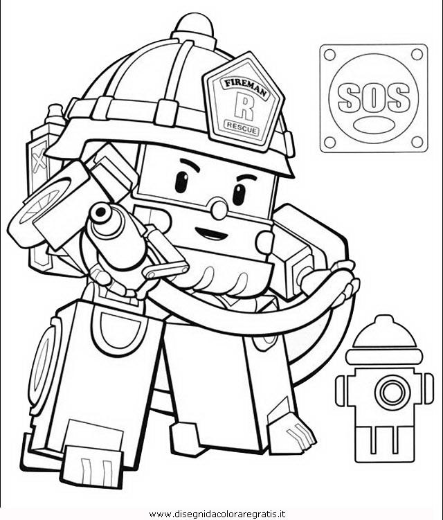 Disegno robocar poli 20 personaggio cartone animato da for Robocar poli da colorare