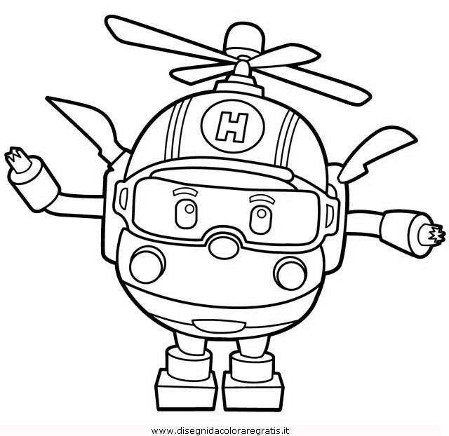Disegno Robocar Poli 21 Personaggio Cartone Animato Da Colorare