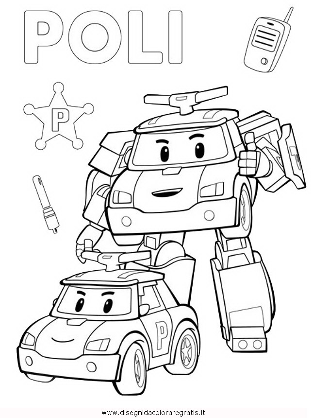 Disegno Robocar Poli 28 Personaggio Cartone Animato Da Colorare