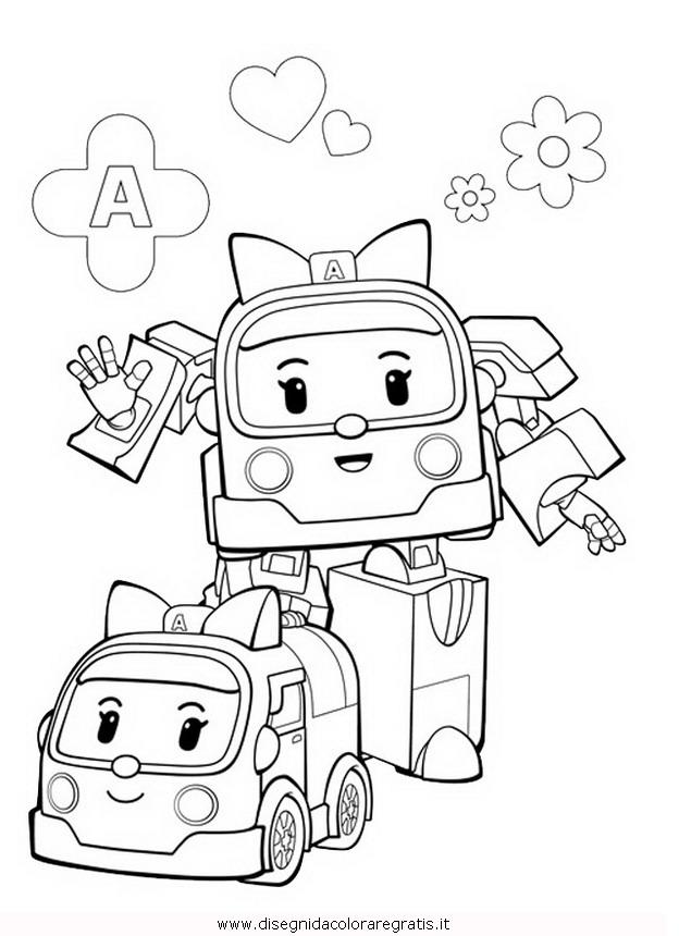 Disegno Robocar Poli 31 Personaggio Cartone Animato Da Colorare