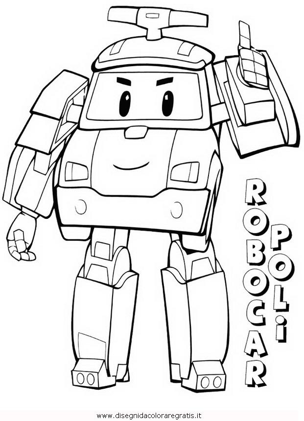 Disegno robocar poli 34 personaggio cartone animato da for Robocar poli da colorare