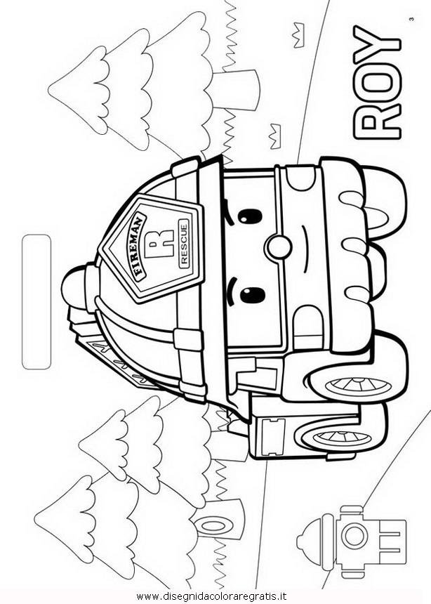 Disegno Robocar Poli 39 Personaggio Cartone Animato Da Colorare