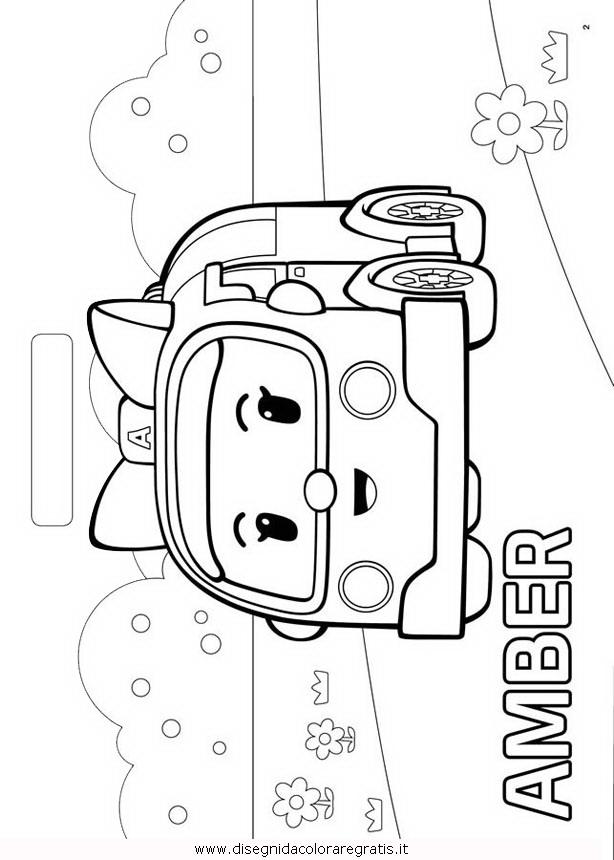 Disegno robocar poli 40 personaggio cartone animato da for Robocar poli da colorare