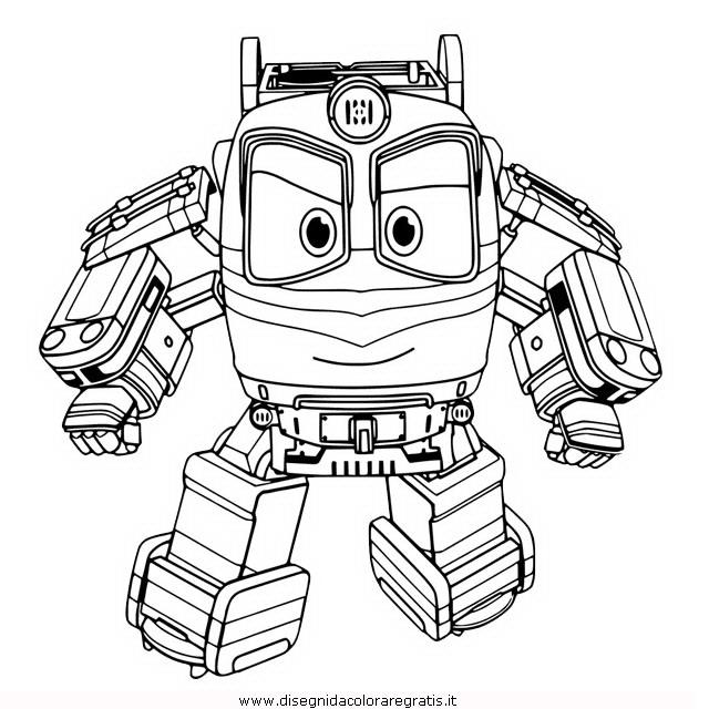 Disegno robot trains personaggio cartone animato da