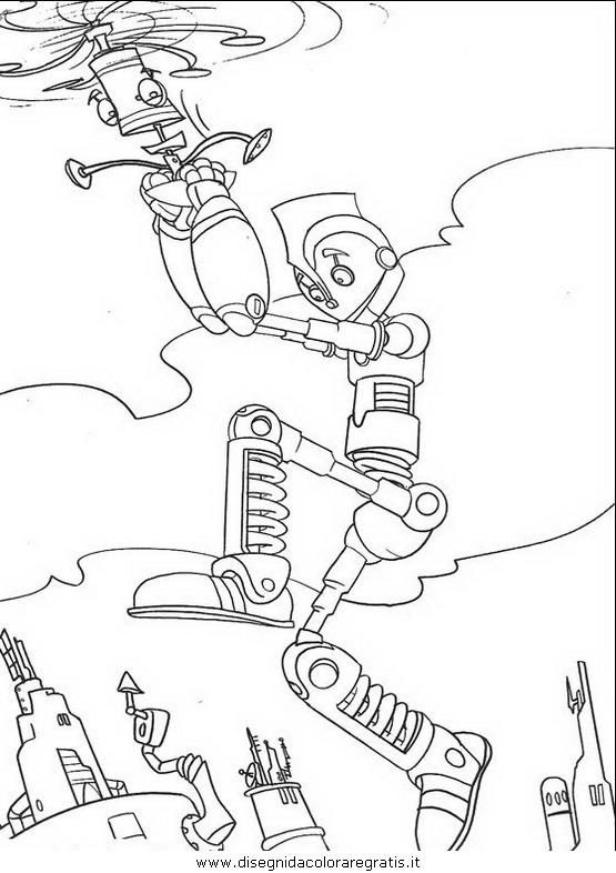 Disegno robots personaggio cartone animato da colorare