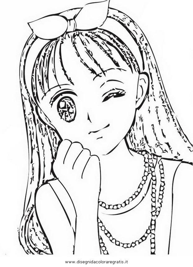 Disegno rossana personaggio cartone animato da colorare