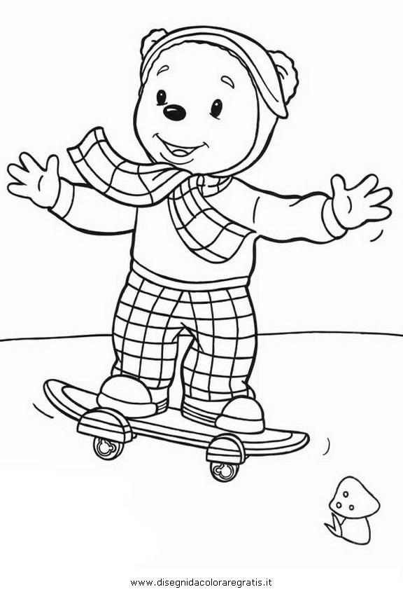Disegno rupert orsetto personaggio cartone animato da