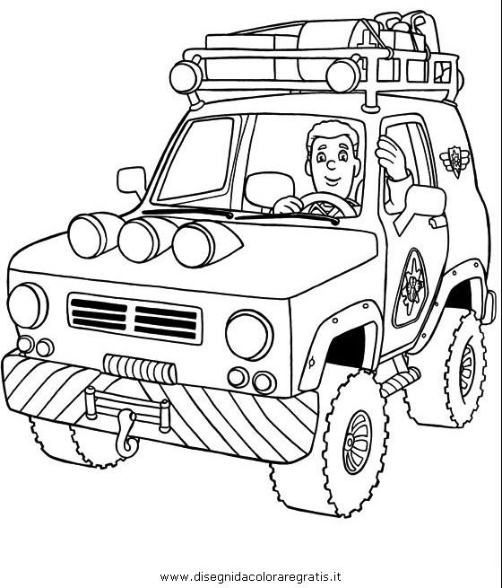 Disegno Sam Pompiere 26 Personaggio Cartone Animato Da Colorare