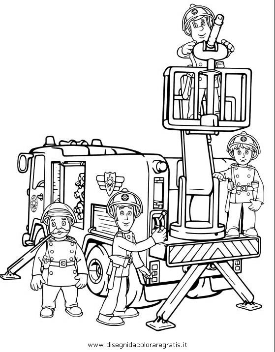 Disegno sam pompiere personaggio cartone animato da