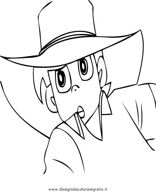 Disegno sampei personaggio cartone animato da colorare