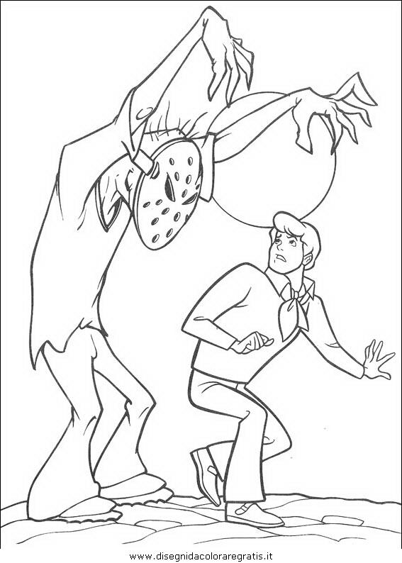 Disegno scooby personaggio cartone animato da colorare