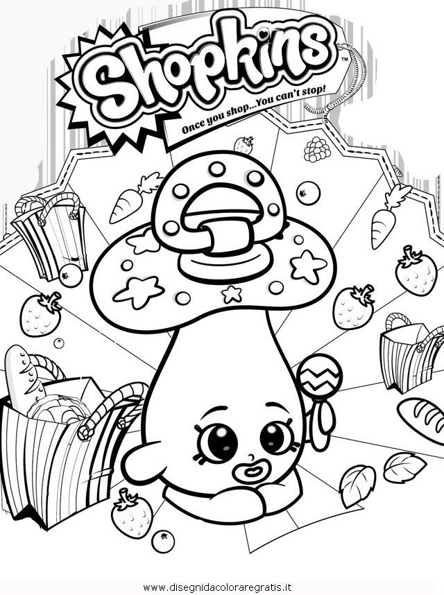 Disegno shopkins personaggio cartone animato da colorare