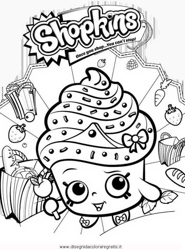 Disegno shopkins 10 personaggio cartone animato da colorare - Cartone animato animali da colorare pagine ...