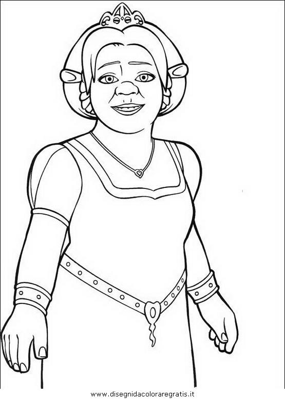 Disegno Shrek35 Personaggio Cartone Animato Da Colorare