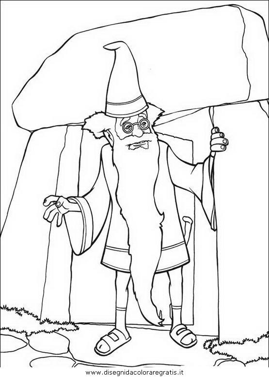 Disegno shrek personaggio cartone animato da colorare