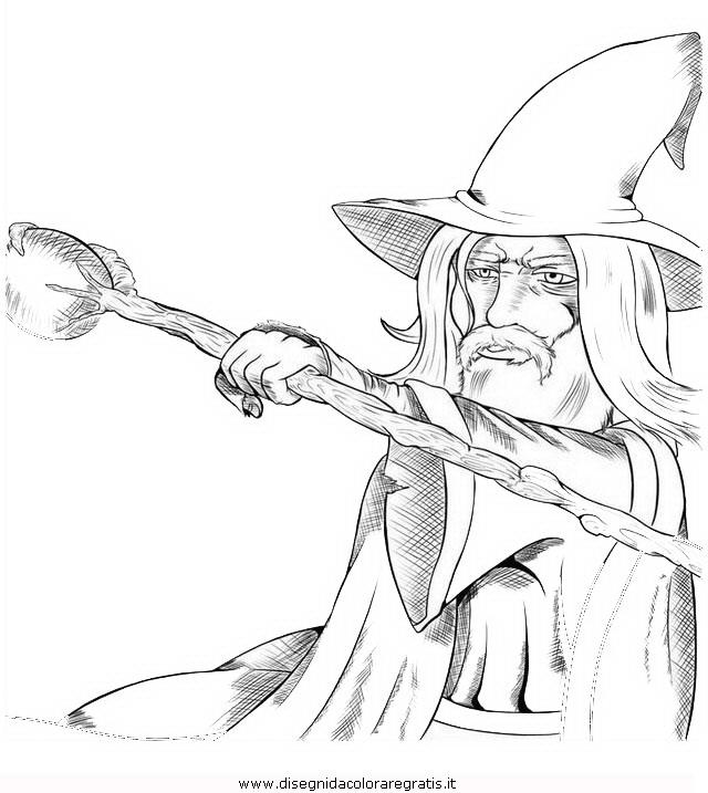 Disegno Gandalf 2 Personaggio Cartone Animato Da Colorare