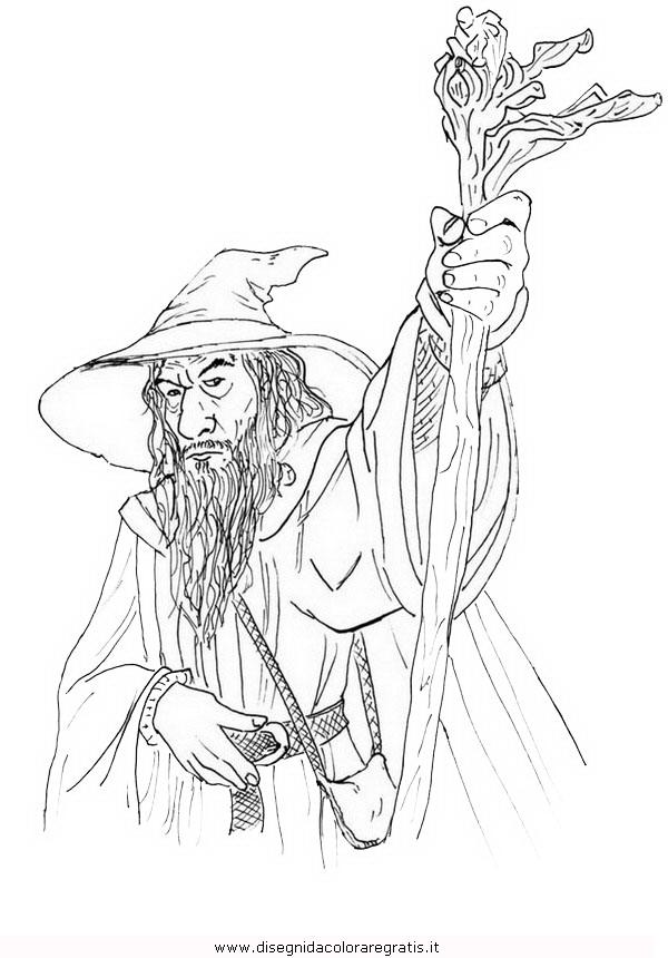 Disegno Gandalf 4 Personaggio Cartone Animato Da Colorare