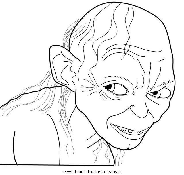 Disegno Gollum Personaggio Cartone Animato Da Colorare