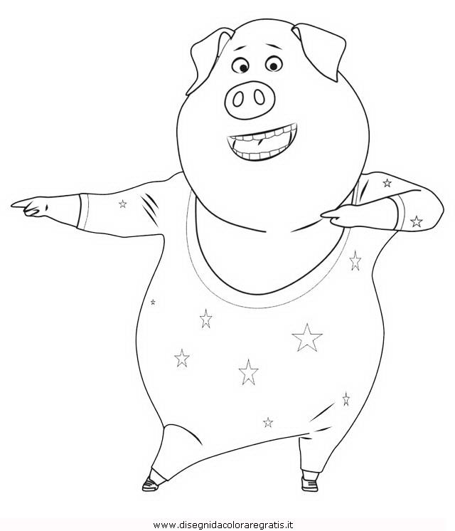 Disegno Sing 23 Personaggio Cartone Animato Da Colorare