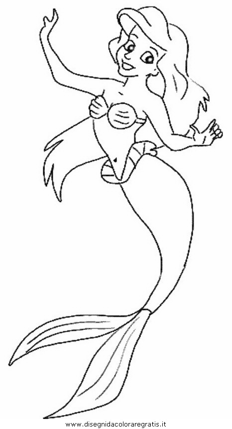 Disegno sirenetta 71 personaggio cartone animato da colorare - Christian cartoni animati immagini ...
