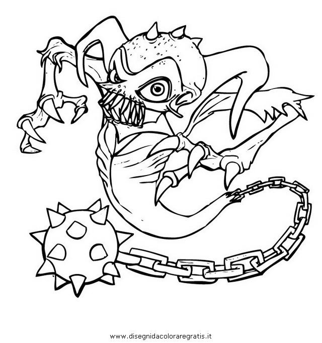 Disegni Da Colorare Sul Computer Di Skylanders.Disegno Skylanders Ghost Personaggio Cartone Animato Da Colorare