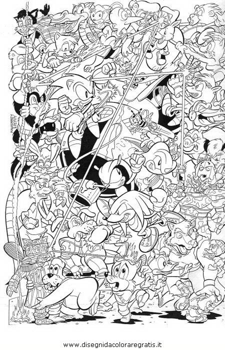 Disegno sonic 03 personaggio cartone animato da colorare for Cartoni blaze
