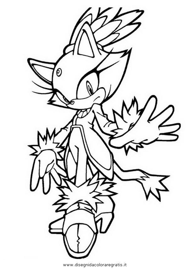 Disegno sonic blaze 2 personaggio cartone animato da colorare for Immagini di blaze