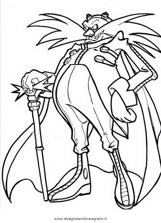 Disegno sonic eggman personaggio cartone animato da