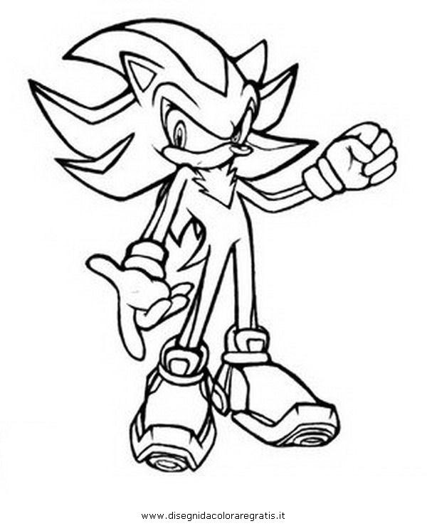 Immagini Di Sonic Da Colorare