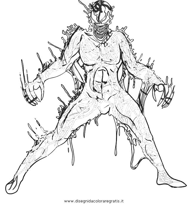 Venom Coloring Pages Lego Venom Spider Marvel Heroes: Disegno Carnage: Personaggio Cartone Animato Da Colorare