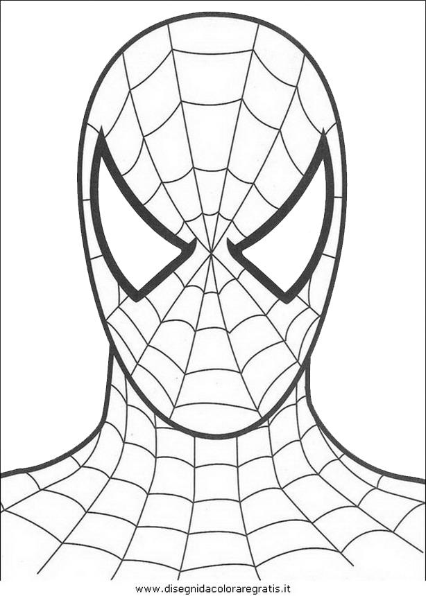 Disegno uomo ragno 10 personaggio cartone animato da colorare Disegni spiderman da colorare gratis