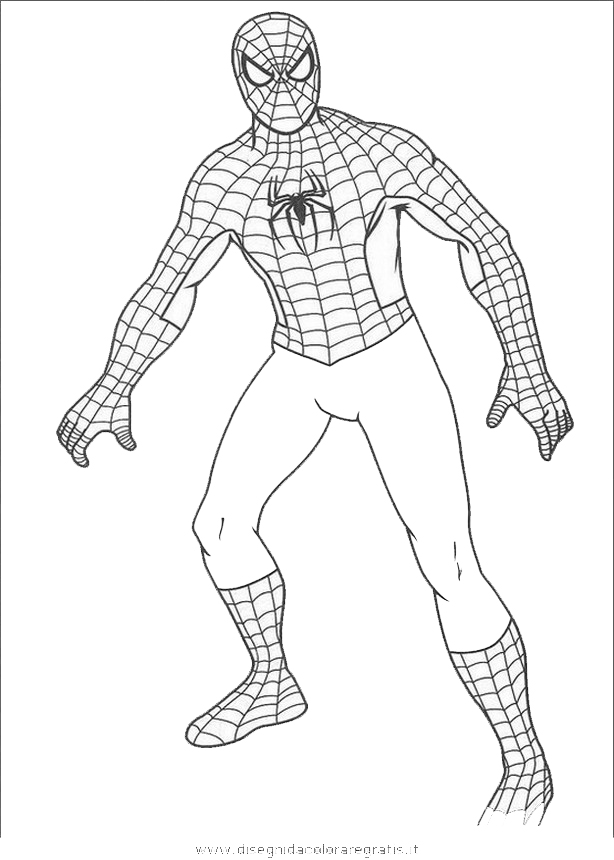 Disegno uomo ragno 14 personaggio cartone animato da colorare for Spiderman da colorare