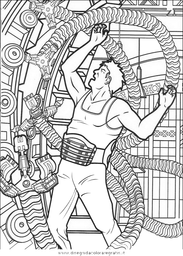 Disegno Uomoragno26 Personaggio Cartone Animato Da Colorare
