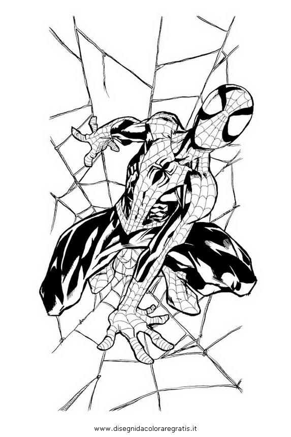 Disegno ultimate spiderman 3 personaggio cartone animato for Spiderman da colorare on line
