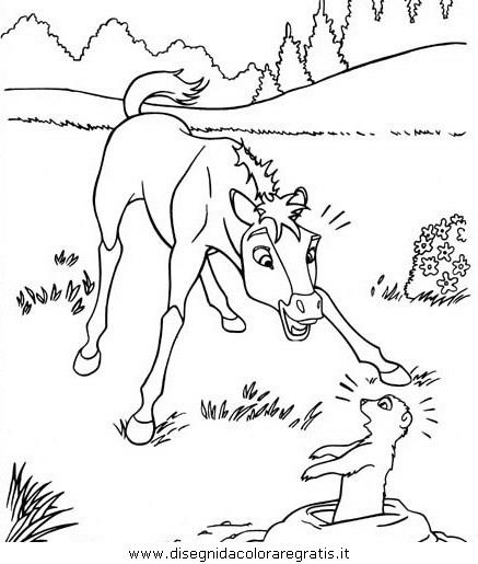 Disegno spirit personaggio cartone animato da colorare