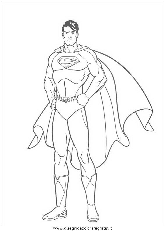 Disegno superman personaggio cartone animato da colorare
