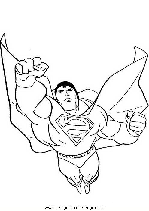 Disegno superman 52 personaggio cartone animato da colorare for Immagini da colorare supereroi