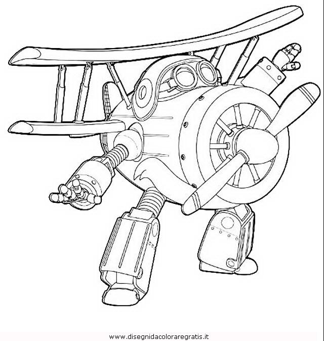 Disegno Super Wings 08 Personaggio Cartone Animato Da Colorare