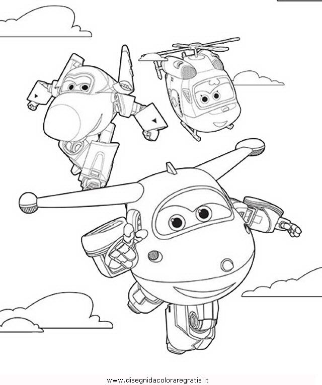Disegno Super Wings 12 Personaggio Cartone Animato Da Colorare