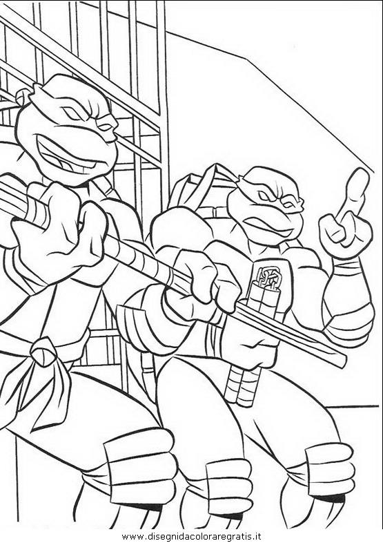 Disegno Tartarughe Ninja 15 Personaggio Cartone Animato Da Colorare