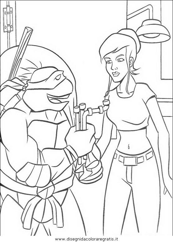 Disegno Tartarughe Ninja 20 Personaggio Cartone Animato Da Colorare